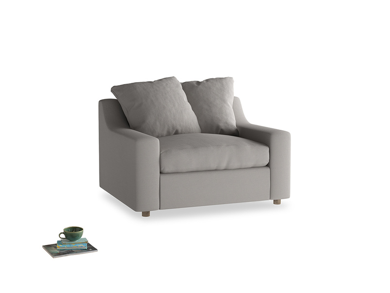 Cloud love seat sofa bed in Safe grey clever linen