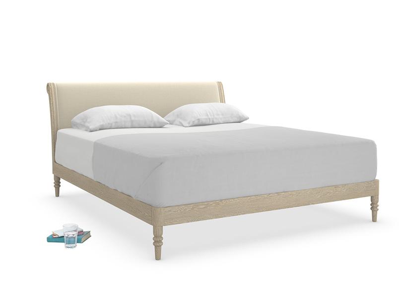 Superking Darcy Bed in Jute vintage linen