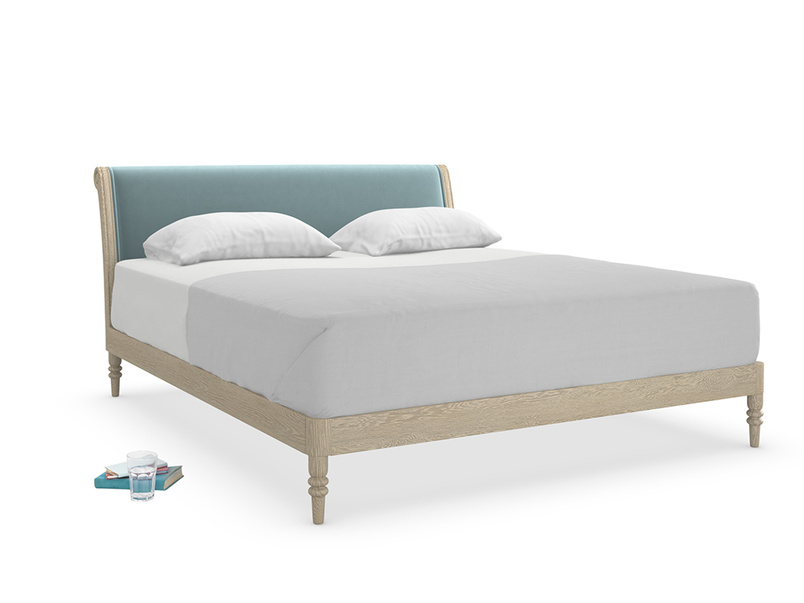 Superking Darcy Bed in Lagoon clever velvet