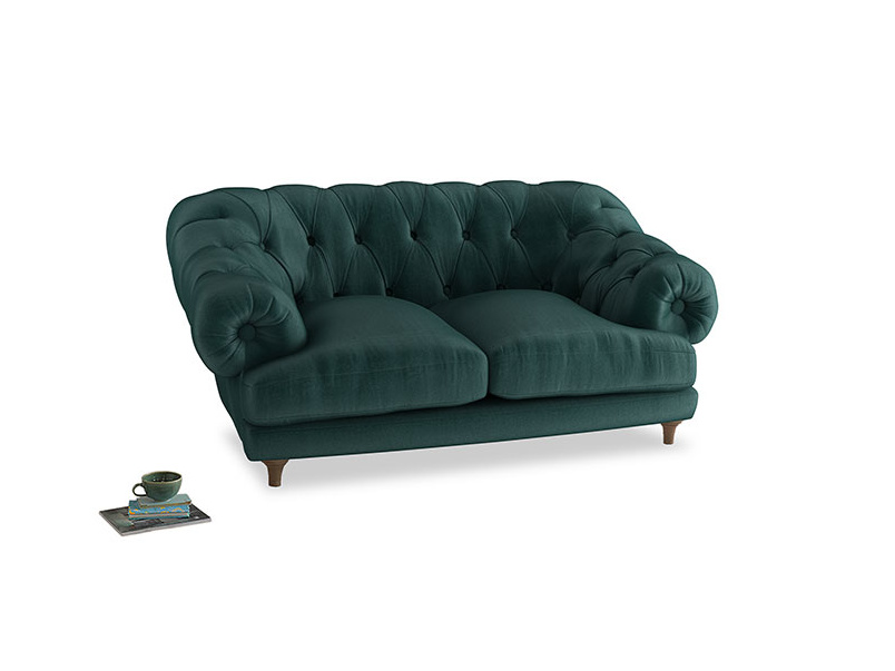 Small Bagsie Sofa in Timeless teal vintage velvet