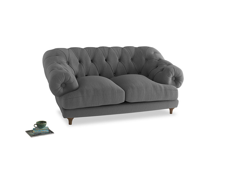 Small Bagsie Sofa in Gun Metal brushed cotton