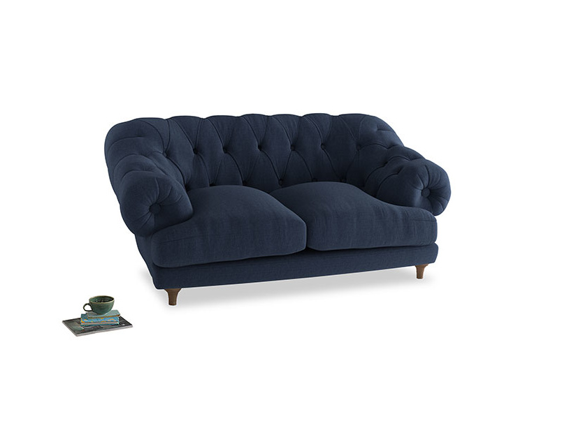 Small Bagsie Sofa in Navy blue brushed cotton