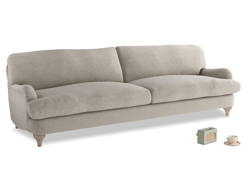 Extra large Jonesy Sofa in Birch wool