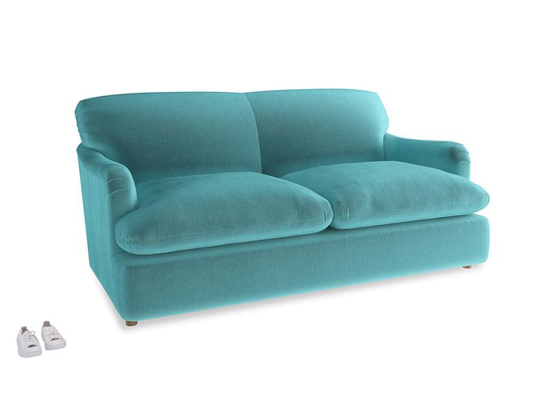 Medium Pudding Sofa Bed in Belize clever velvet