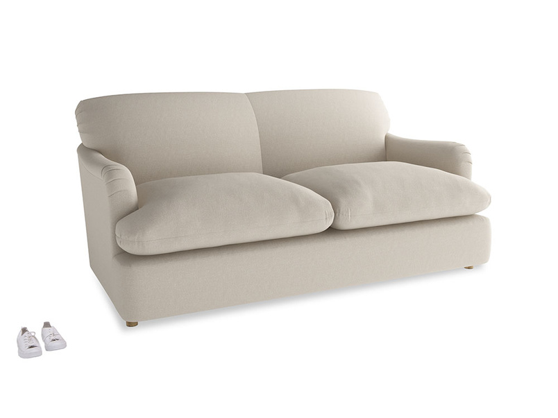 Medium Pudding Sofa Bed in Buff brushed cotton