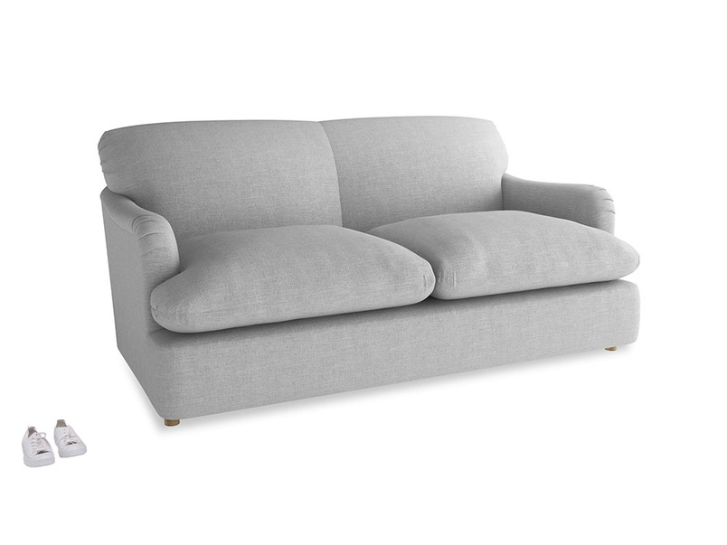 Medium Pudding Sofa Bed in Cobble house fabric