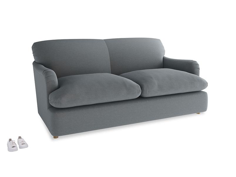 Medium Pudding Sofa Bed in Dusk vintage linen