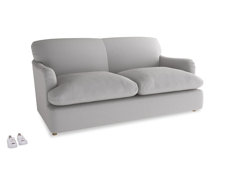 Medium Pudding Sofa Bed in Flint brushed cotton