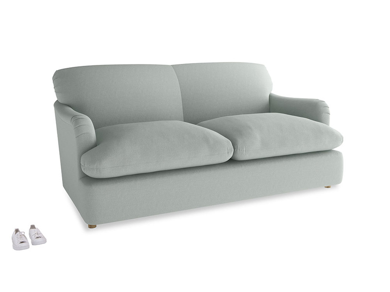 Medium Pudding Sofa Bed in French blue brushed cotton