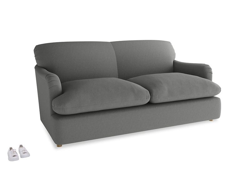 Medium Pudding Sofa Bed in French Grey brushed cotton