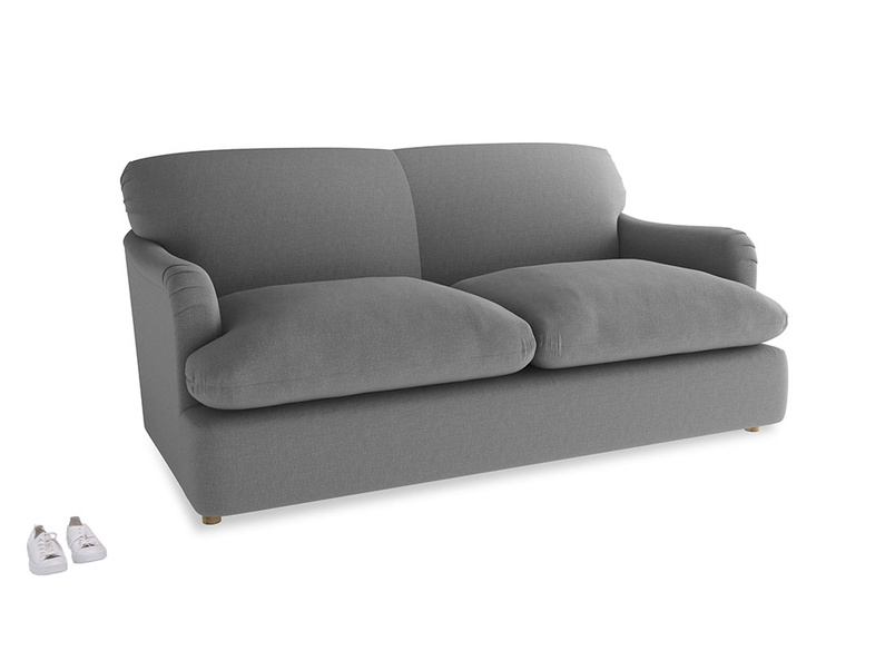 Medium Pudding Sofa Bed in Gun Metal brushed cotton