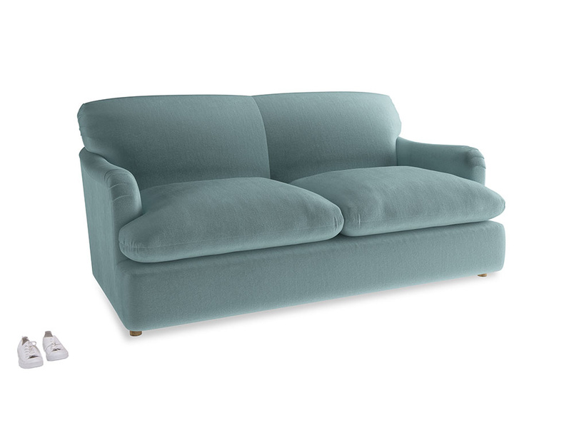 Medium Pudding Sofa Bed in Lagoon clever velvet