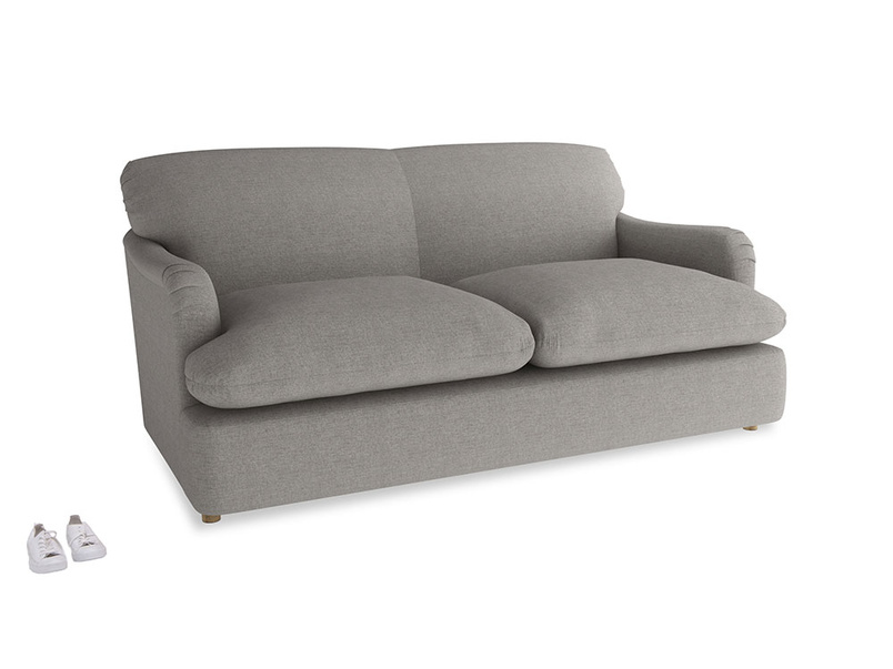 Medium Pudding Sofa Bed in Marl grey clever woolly fabric