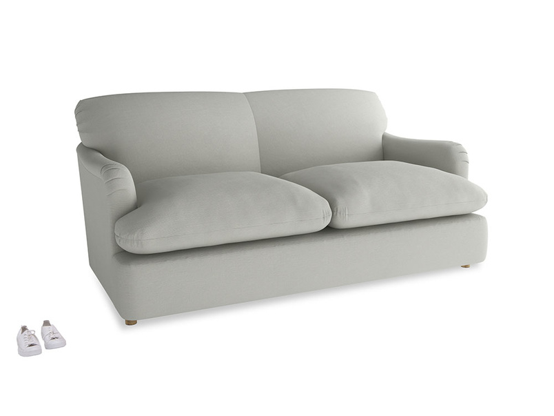 Medium Pudding Sofa Bed in Mineral grey clever linen