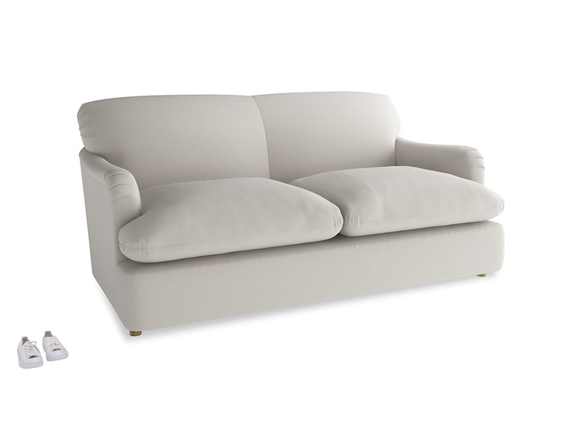 Medium Pudding Sofa Bed in Moondust grey clever cotton