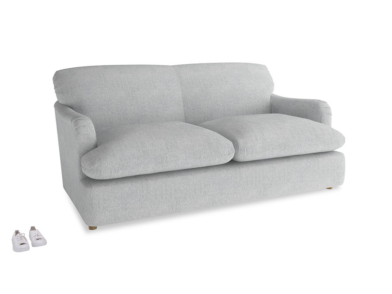 Medium Pudding Sofa Bed in Pebble vintage linen