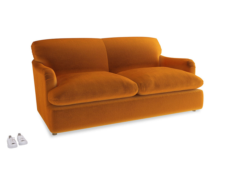 Medium Pudding Sofa Bed in Spiced Orange clever velvet