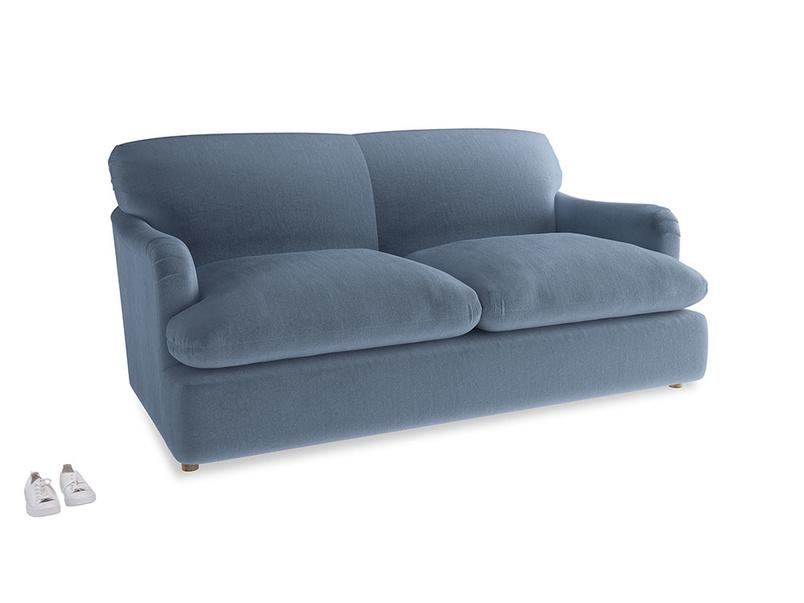 Medium Pudding Sofa Bed in Winter Sky clever velvet