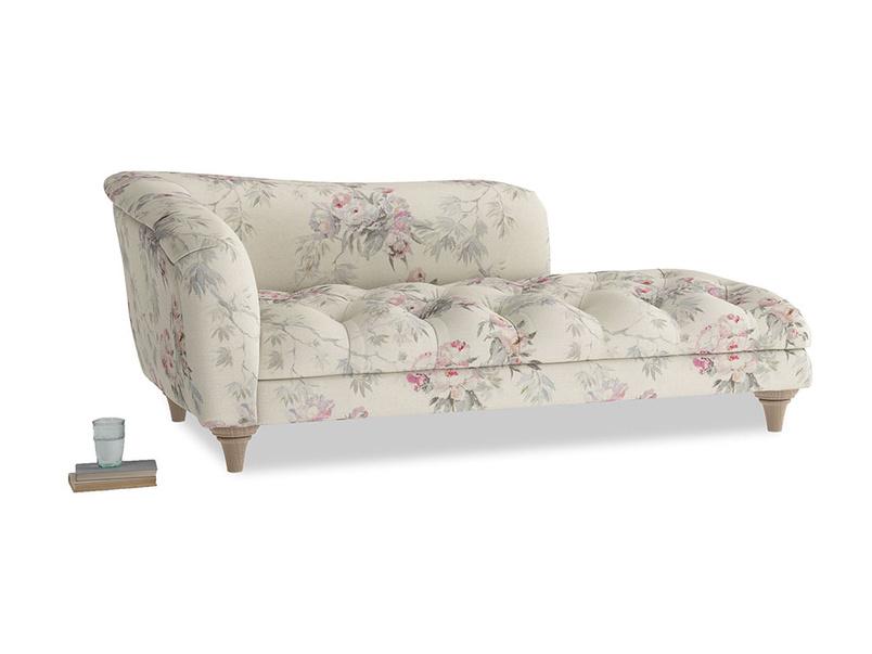 Left Hand Slumber Jack Chaise Longue in Pink vintage rose