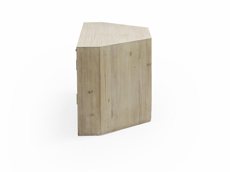 Corner Boy reclaimed wood TV uni