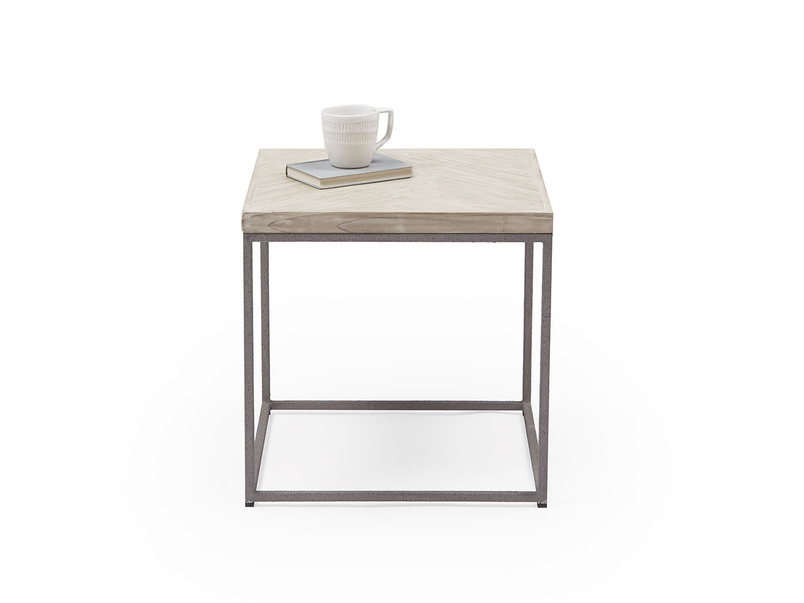 Little Parker wooden parquet side table