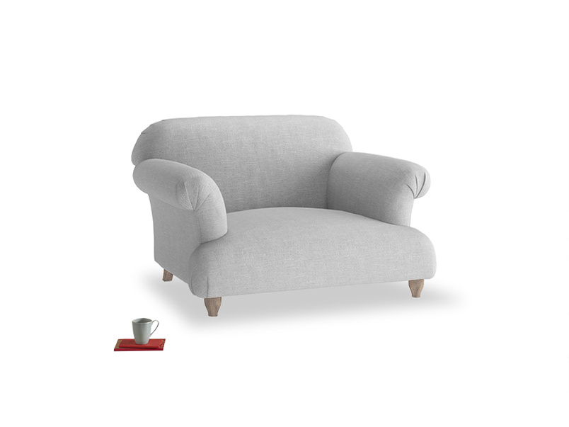 Soufflé Love seat in Cobble house fabric