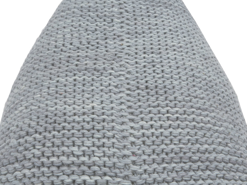Chocs bean bag in Light Grey knitted wool
