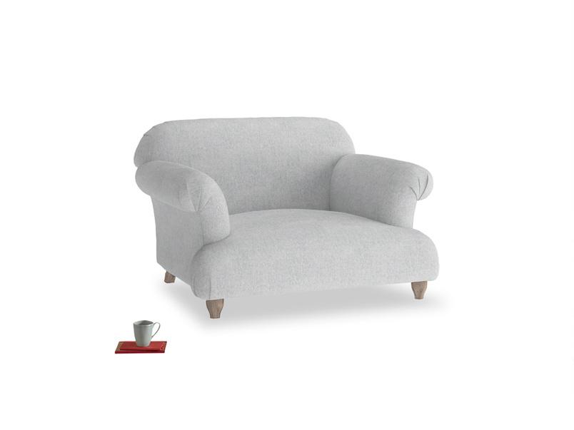 Soufflé Love seat in Pebble vintage linen
