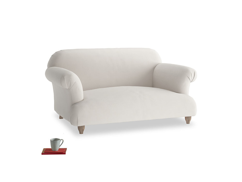 Small Soufflé Sofa in Chalk clever cotton