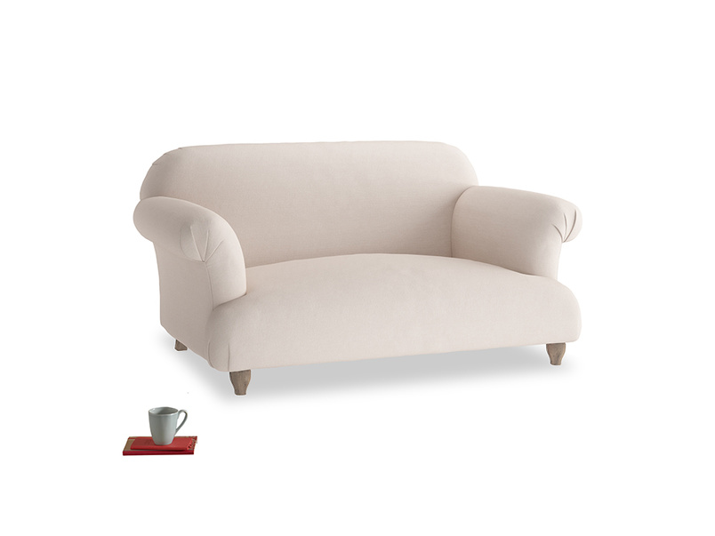 Small Soufflé Sofa in Faded Pink brushed cotton