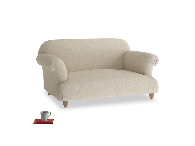Small Soufflé Sofa in Flagstone clever woolly fabric