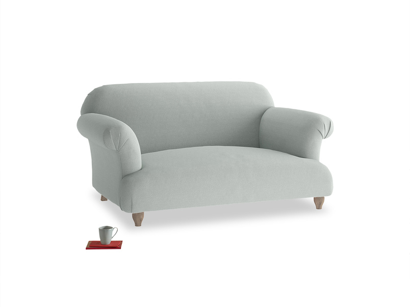 Small Soufflé Sofa in French blue brushed cotton