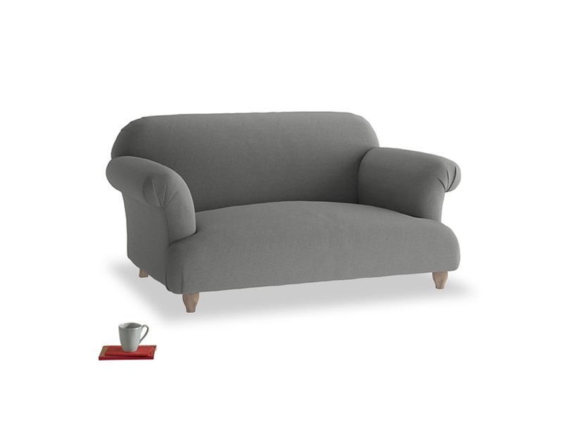 Small Soufflé Sofa in French Grey brushed cotton