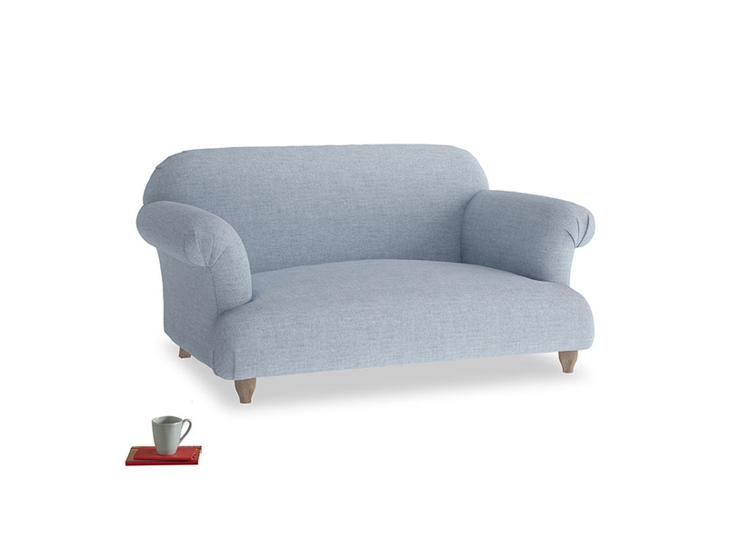 Small Soufflé Sofa in Frost clever woolly fabric