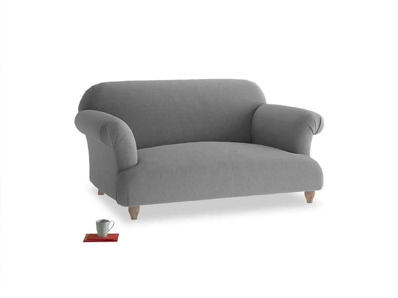 Small Soufflé Sofa in Gun Metal brushed cotton