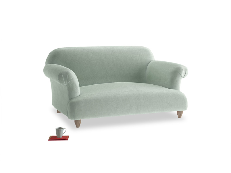 Small Soufflé Sofa in Mint clever velvet