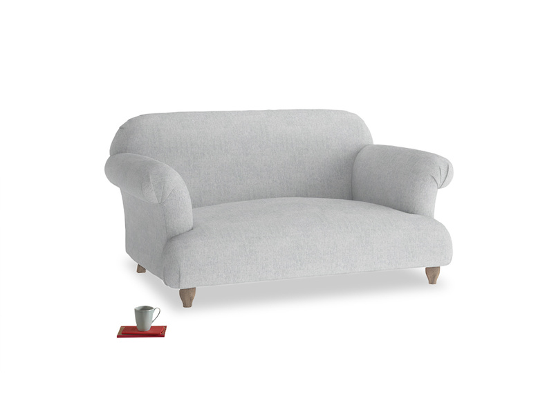 Small Soufflé Sofa in Pebble vintage linen