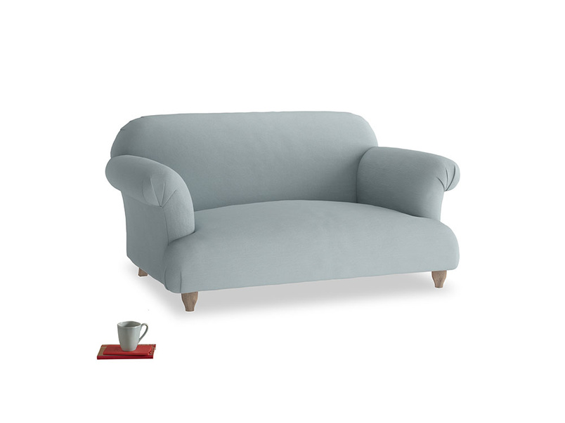 Small Soufflé Sofa in Quail's egg clever linen