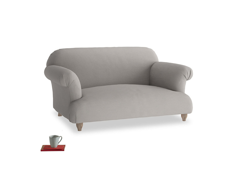 Small Soufflé Sofa in Safe grey clever linen