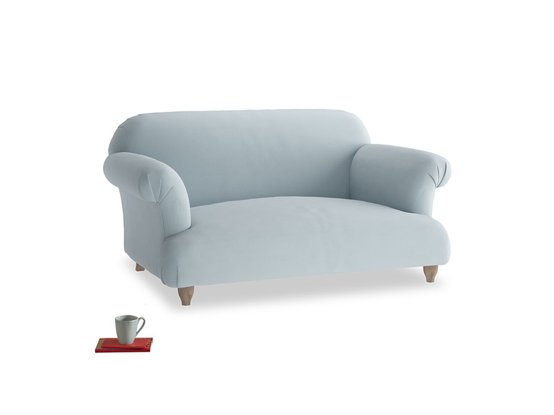 Small Soufflé Sofa in Scandi blue clever cotton