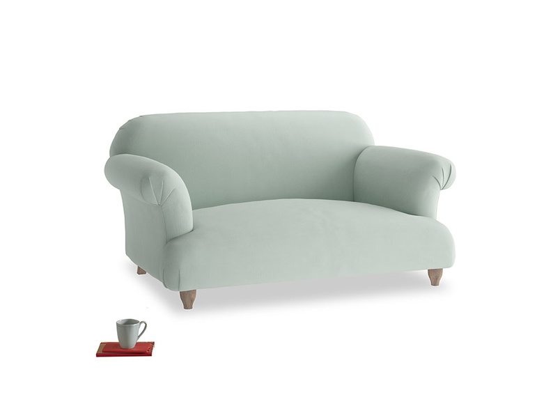 Small Soufflé Sofa in Sea surf clever cotton