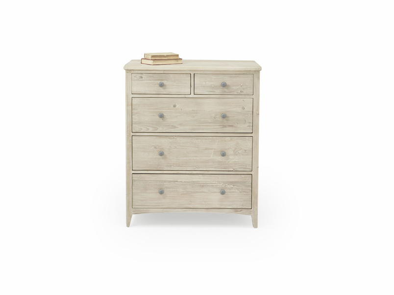 Driftwood reclaimed tongue and groove wood chest of drawers