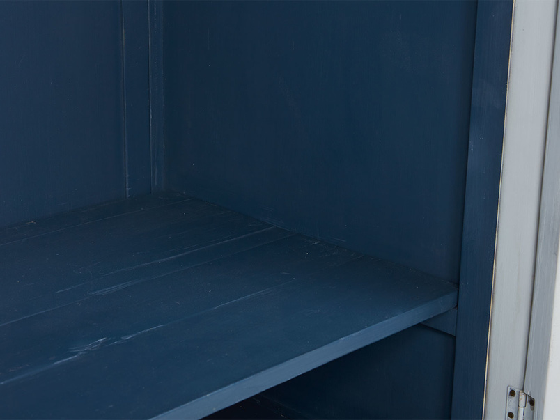Flutterby wooden wardrobe inky blue interior