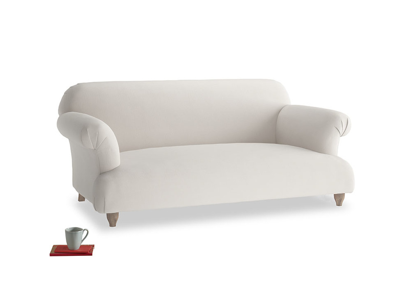 Medium Soufflé Sofa in Chalk clever cotton