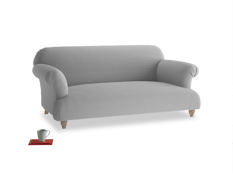 Medium Soufflé Sofa in Magnesium washed cotton linen