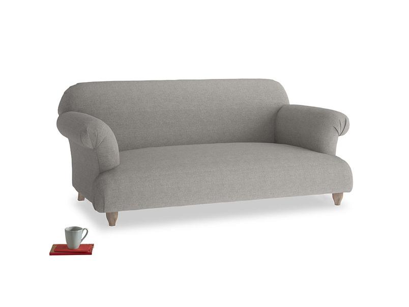 Medium Soufflé Sofa in Marl grey clever woolly fabric