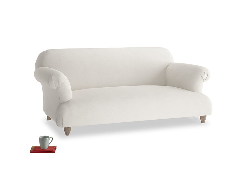 Medium Soufflé Sofa in Oyster white clever linen