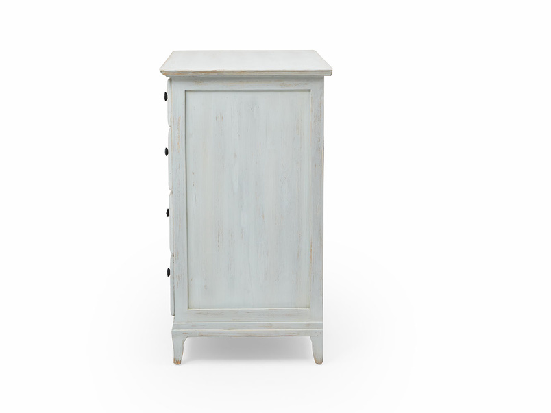 Mosey wooden blue white chest of drawers