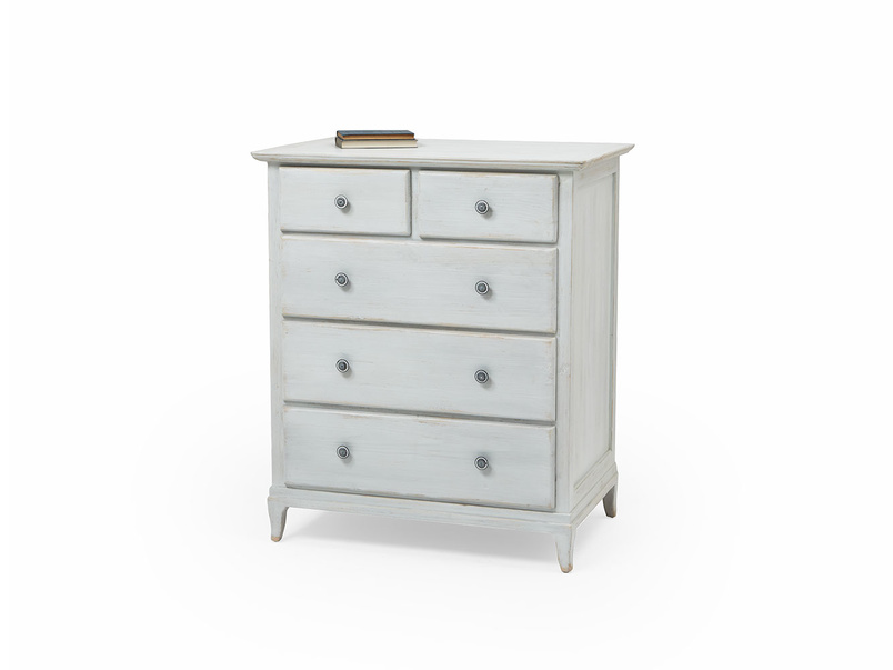 Mosey white vintage chest of drawers