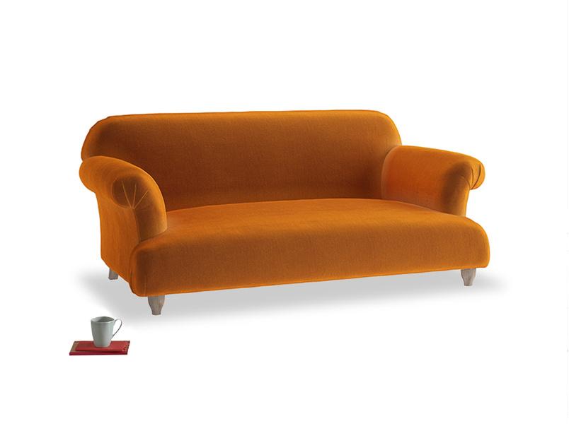 Medium Soufflé Sofa in Spiced Orange clever velvet